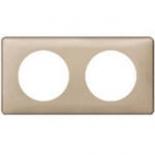 068662 - Рамка 2-постовая Legrand Celiane, 161×82мм, пластик (имбирь)