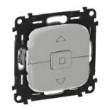 752029 + 755147 - Клавишный выключатель для управления жалюзи/рольставнями Legrand Valena Allure (алюминий)