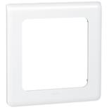 078839 - Рамка с большой лицевой панелью для модуля управления освещением, Legrand Mosaic, белая