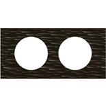 069022 - Рамка 2-постовая Legrand Celiane, прямоугольная, 171х83мм, Corian® (чёрный рифленый)