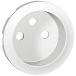 068112 - Лицевая панель для розетки 2К+З (французский стандарт), Legrand Celiane (белая)