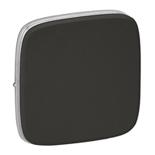755113 - Лицевая панель для одноклавишных выключателей Legrand Valena Allure (черная сталь)