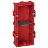 080142 - Монтажная коробка встраиваемая, 2-постовая (1х4/5), 40мм, для кирпичных стен, Legrand Batibox