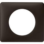 066741 - Рамка однопостовая Legrand Celiane, прямоугольная, 90х82мм (черная перкаль)