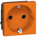 077217 - Розетка электрическая с антибактериальным покрытием, Легранд Мозаик (Оранжевый)