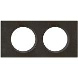 069372 - Рамка 2-постовая Legrand Celiane, прямоугольная, 170х82мм, камень (ардезия)