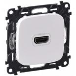 754715 - Розетка HDMI 1.3 для аудио/видео устройств, тип А, Legrand Valena Allure (белая)