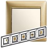 770305 - Рамка 5 постов Legrand Valena (Матовое золото)