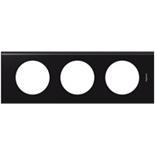 069153 - Рамка 3-постовая Legrand Celiane, прямоугольная, 242х82мм, Corian® (Nocturne)