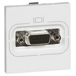 078757 - Розетка видео, гнездо HD15, 2-модульная, Легранд Мозаик (белая)