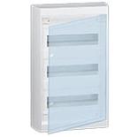 601248 - Щиток распределительный навесной, 3 рейки, 36+3М, Legrand Nedbox (прозрачная дверь)