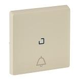 755051 - Лицевая панель для кнопочного выключателя, с символом «звонок», c линзой для подсветки Legrand Valena Life (слонвая кость)