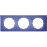 066663 - Рамка 3-постовая Legrand Celiane, прямоугольная, 232х82мм (лиловый муар)