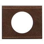 069401 - Рамка однопостовая Legrand Celiane, прямоугольная, 100х82 мм, натуральная текстурная кожа