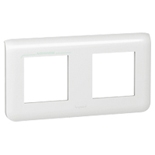 078804 - Рамка Legrand Mosaic, 2-постовая на 4 модуля, горизонтальная (белая)