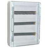 401658 - Щиток электрический навесной, 3 рейки, 54М, 125А, Legrand XL3 125 (прозрачная дверь)