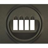 771225 - Лицевая панель для двойной акустической розетки Legrand Galea Life, тёмная бронза
