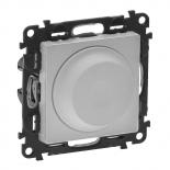 752060 + 754882 - Светорегулятор (диммер) поворотный, 300 Вт, Легранд Валена Лайф (алюминий)
