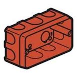 080149 - Монтажная коробка встраиваемая, 3-постовая, 40мм, для кирпичных стен, Legrand Batibox (для серии Mosaic)