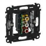 753075 - Механизм розетки для аудио/видео устройства с тремя разьемами RCA Legrand Valena INMATIC