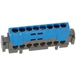 004842 - Клеммная колодка 8х1.5-16мм², Legrand (синяя)