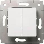 773658 - Выключатель двухклавишный, 10A, Legrand Cariva (белый)