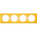 066674 - Рамка 4-постовая Legrand Celiane, прямоугольная, 303х82мм (песочный муар)