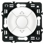 068151 + 067601 + 080251 - Переключатель управления приводами жалюзи, клавишный 6А, Легран Селиан (белый)