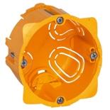 080051 - Монтажная коробка встраиваемая, 1-постовая, 50мм, d=67мм, для сухих перегородок, Legrand Batibox