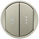 068304 - Лицевая панель для выключателя/переключателя двухклавишного с подсветкой, Легранд Селиан (титан)