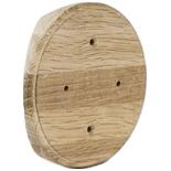 RK3-220-D - Накладка на бревно Ø220мм, для распределительной коробки/светильника с диаметром основания до 105мм, круглая (дуб)