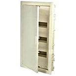 001433 - Щиток встраиваемый, 3 рейки, 36+6М, Legrand Nedbox (плоская металлическая белая дверь)