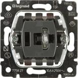 775827 - Механизм переключателя Legrand Galea Life, промежуточный, с подсветкой, 10АХ, одноклавишный, с зелёной лампой