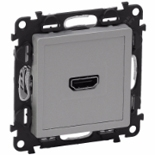 753371 - Розетка HDMI 1.3 для аудио/видео устройств, тип А, Legrand Valena Life (алюминий)
