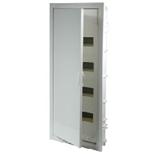 001434 - Щиток встраиваемый, 4 рейки, 48+8М, Legrand Nedbox (плоская металлическая белая дверь)