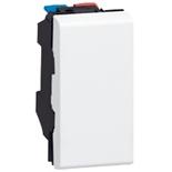 077000 - Выключатель 1-модульный простой, Legrand Mosaic, 10А (белый)