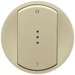 066219 - Лицевая панель для выключателя двухполюсного с индикацией, Legrand Celiane (слоновая кость)