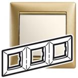 770303 - Рамка 3 поста Legrand Valena (Матовое золото)