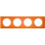 066654 - Рамка 4-постовая Legrand Celiane, прямоугольная, 303х82мм (оранжевый муар)