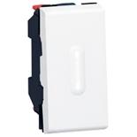 077032 + 067666 - Выключатель кнопочный перекидной с подсветкой, 1-модульный, Legrand Mosaic, 6А (белый)