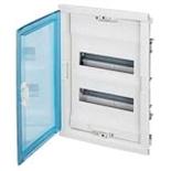 001422 - Щит встраиваемый, 2 рейки, 24+4М, Legrand Nedbox (синяя полупрозрачная скругленная дверь)
