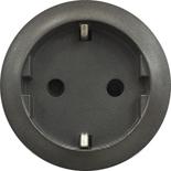 067931 - Лицевая панель для розетки немецкого стандарта с безвинтовыми зажимами (2К+З), Легран Селян (графит)