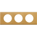 069133 - Рамка 3-постовая Legrand Celiane, прямоугольная, 242х83мм, металл (золото)