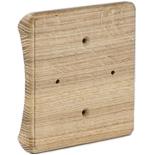 RK4-300-D - Накладка на бревно Ø300мм, для распределительной коробки/светильника с размером основания до 105х105мм, квадратная (дуб)