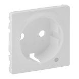 754850 - Лицевая панель для розетки 2К+З c линзой для подсветки/индикации Легранд Валена Лайф (белая)