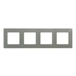 672524 - Рамка 4-х постовая Legrand Etika (светлая галька)