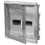 001421 - Щит встраиваемый, 1 рейка, 12+2М, Legrand Nedbox (синяя полупрозрачная скругленная дверь)