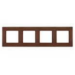 672574 - Рамка 4-х постовая Legrand Etika (какао)