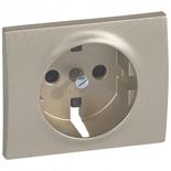 771421 - Лицевая панель для электрической розетки Legrand Galea Life с заземлением, с защитными шторками, немецкий стандарт, титан