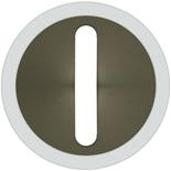 065203 - Лицевая панель для выключателя/переключателя с тонкой клавишей (контурная подсветка), Legrand Celiane (графит)